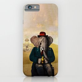 Mr. Preston J. Pachyderm visits the Sphinx iPhone Case
