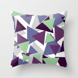 Triangle Pattern for Tuesday's Mood Throw Pillow