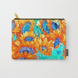Sunflower Garden #nature #painting Carry-All Pouch