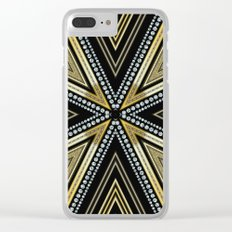 Glam Cross Star Clear iPhone Case