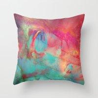 aurora Throw Pillows featuring AURORA by Adaralbion