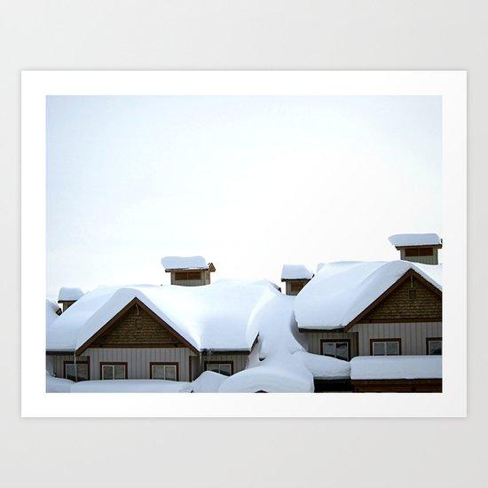 Snowed Inn Art Print