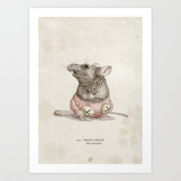 Real Life Mickey Mouse - Natural History Variant Art Print