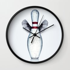The dream of the bowling pin Wall Clock