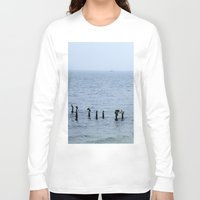 cape cod Long Sleeve T-shirts featuring Gull's Perch, Cape Cod by JezRebelle