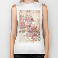 phoenix Biker Tanks featuring Phoenix  by MapMapMaps.Watercolors