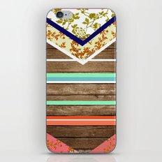 chevron  wood design iPhone & iPod Skin