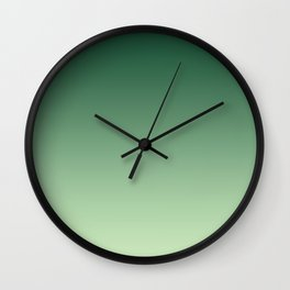 Green Ombre Wall Clock