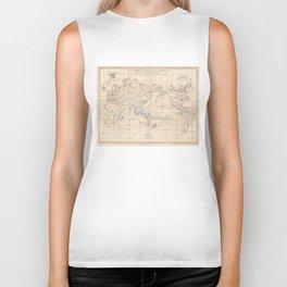 Vintage Map of The World (1799) Biker Tank