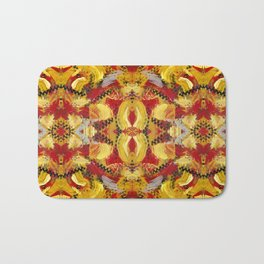 Abstract Red Gold Bath Mat