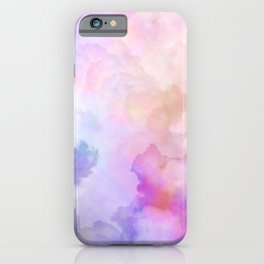 Pastel Clouds-Pink and Blue #homedecor iPhone Case