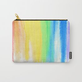 Rainbow Watercolor Drip Carry-All Pouch