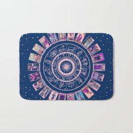 Major Arcana & Wheel of the Zodiac | Pastel Goth Bath Mat