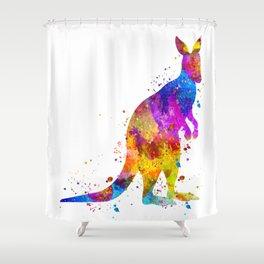 Watercolor Kangaroo Shower Curtain