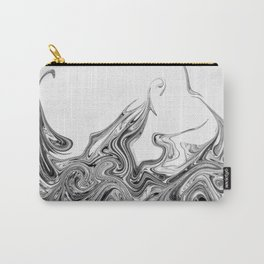 Modern contemporary Black and White Abstract Carry-All Pouch
