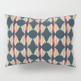 Oval and Diamond Sillouette Pattern Pillow Sham