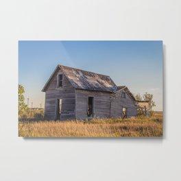 Falling Farm House, North Dakota 3 Metal Print