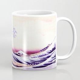 The Great wave purple fuchsia Coffee Mug