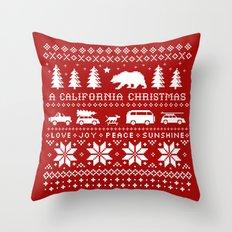California Christmas Pattern Throw Pillow