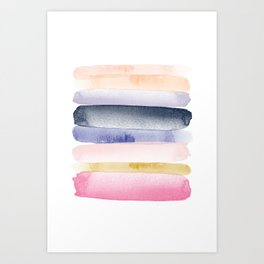 Brushstroke Ombre Abstract Art Print