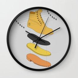 Timberland deconstruct Wall Clock