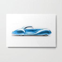 Vintage 1934 blue Packard Eight 2/4-Passenger Coupe Metal Print