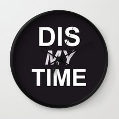 Dis My Clothing Line Wall Clock