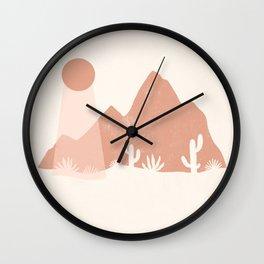 sonoran shapes Wall Clock