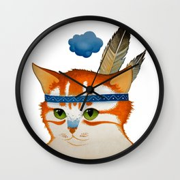 LITTLE QUIET CLOUD by Raphaël Vavasseur Wall Clock