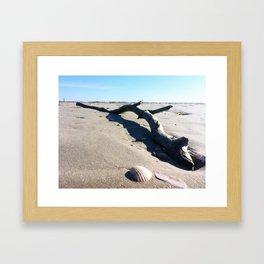 Danish beach Framed Art Print