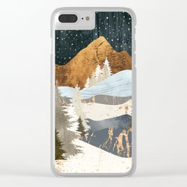 Winter Stars Clear iPhone Case