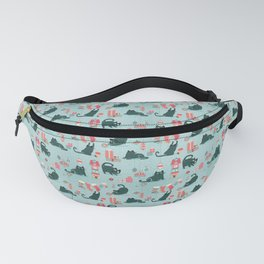 Vintage Christmas cats Fanny Pack