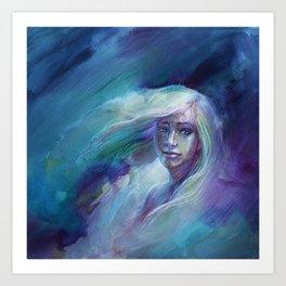 Selene in Moonlight Art Print