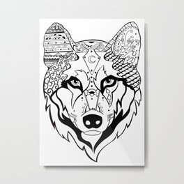 Sonya The Wolf Metal Print