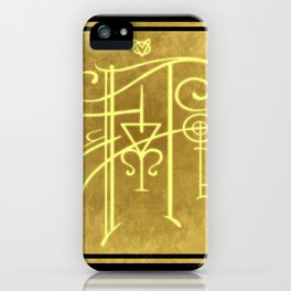 Sigil of Hufflepuff iPhone Case