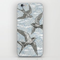 Free Bird (Three Swallows) iPhone & iPod Skin