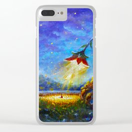 Painting The Scarlet Flower. Fantasy art. Illustration for fairy tale, fabulous world. Clear iPhone Case