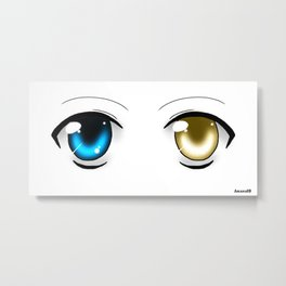 Black&Blue or White&Gold ? Metal Print