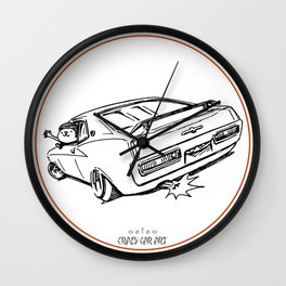 Crazy Car Art 0018 Wall Clock