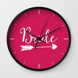 Bride Wedding Quote Wall Clock