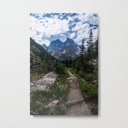 Teton Canyon, Grand Teton National Park Metal Print