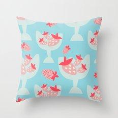 Strawberry Dessert Throw Pillow