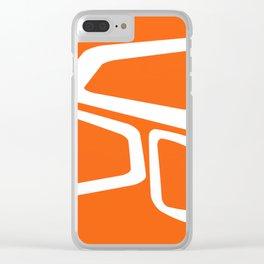 Mid Century In Burnt Orange Clear iPhone Case