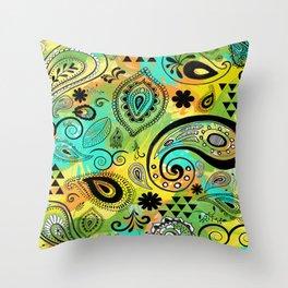 Crazy Paisley Throw Pillow