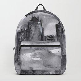 Seattle Skyline Watercolor Space Needle Washington PNW Backpack