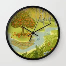 Magic Green Forest Wall Clock