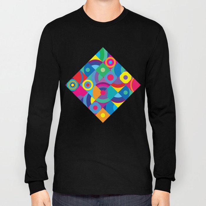 Geometric Figures in color Long Sleeve T-shirt