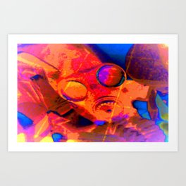 Abstract Gasmask Art Print