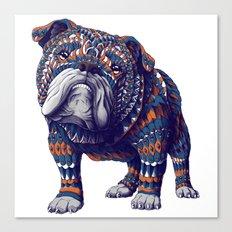 English Bulldog (Color Version) Canvas Print