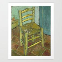 Van Gogh's Chair Art Print